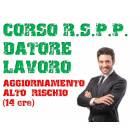 Corso RSPP Datore di Lavoro - Aggiornamento Alto Rischio 14 ore