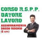 Corso RSPP Datore Lavoro - Aggiornamento Basso Rischio 6 ore