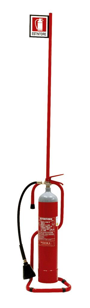 Accessori antincendio le piantane per estintori - Estintore in casa ...