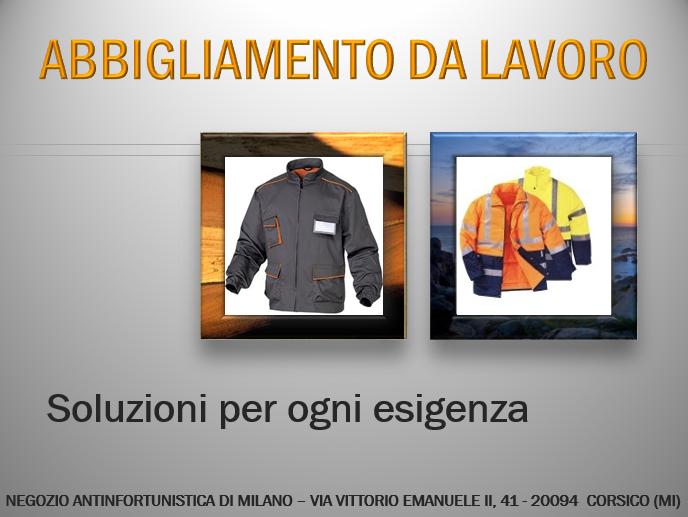 Abbigliamento da lavoro a Milano