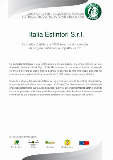 Italia Estintori sceglie l'energia rinnovabile a IMPATTO ZERO!