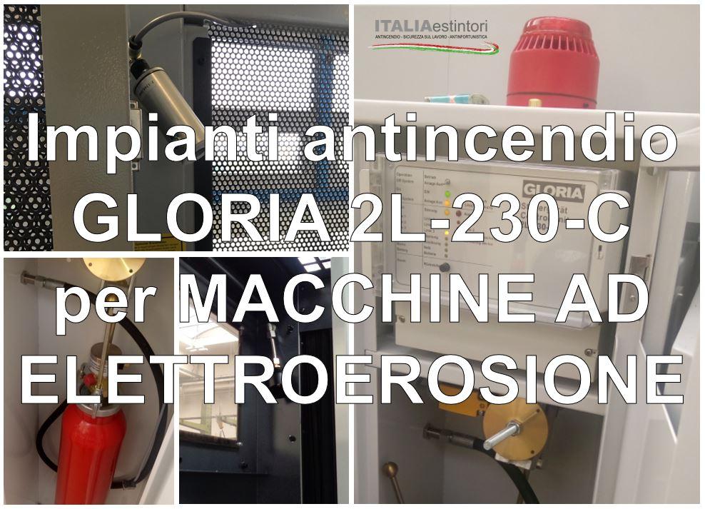Impianti antincendio GLORIA 2L-230-C per macchine ad elettroerosione