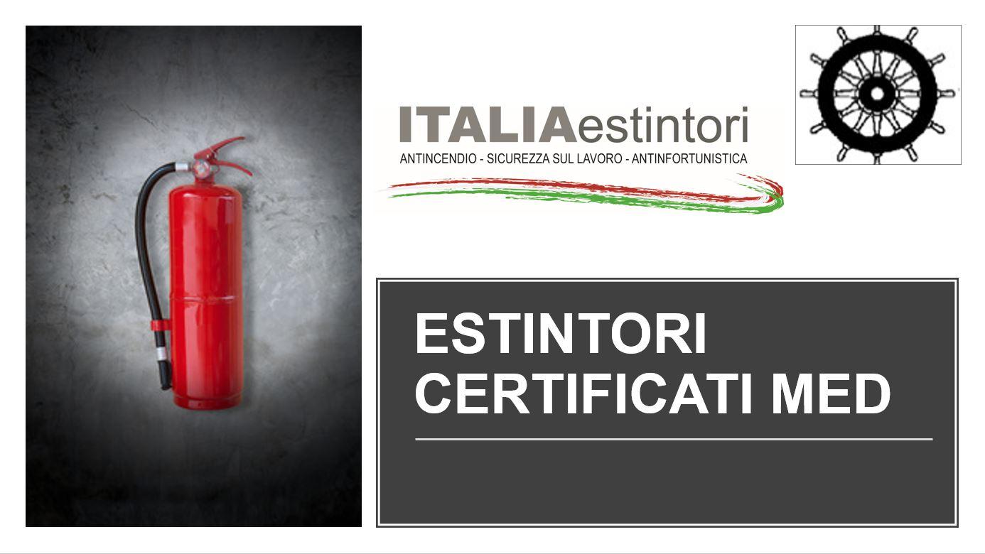 Estintori certificati MED