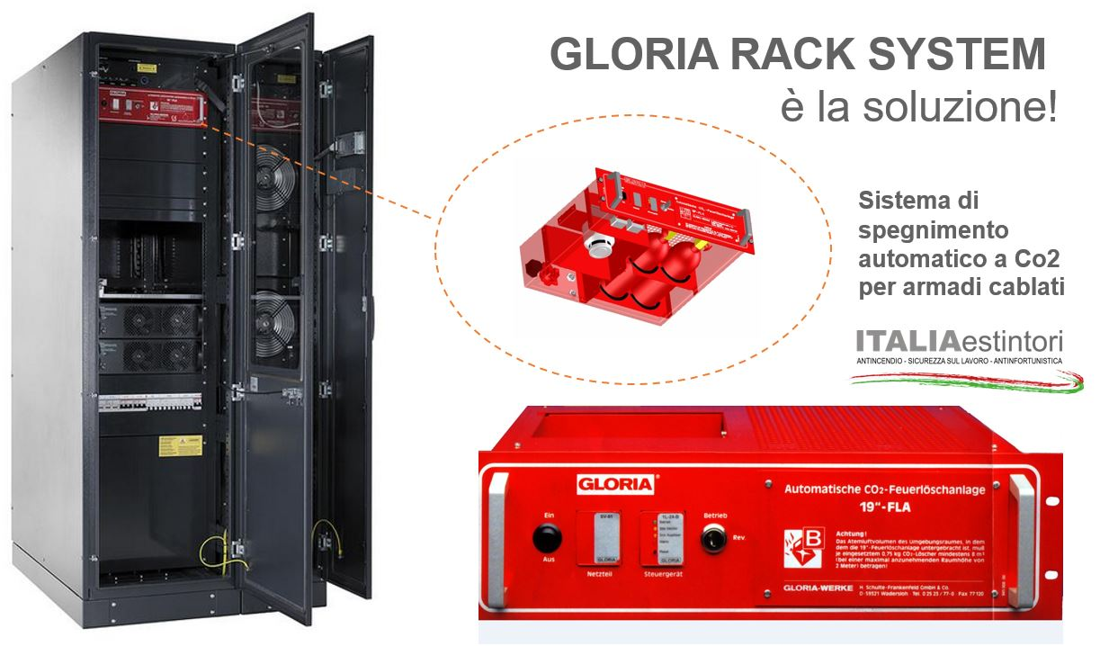 "SISTEMA ANTINCENDIO AUTOMATICO – GLORIA ""RACK SYSTEM"""