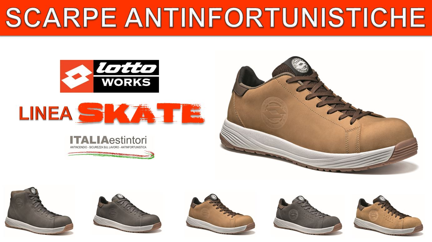 Lotto Works: scarpe antinfortunistiche Skate