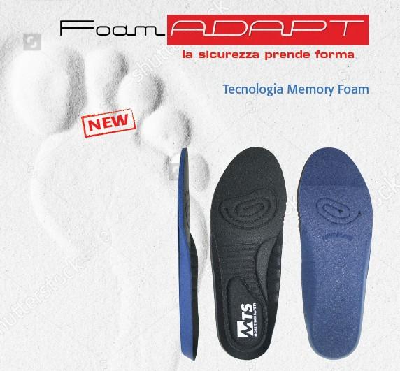 Soletta FOAM ADAPT con tecnologia Memory Foam