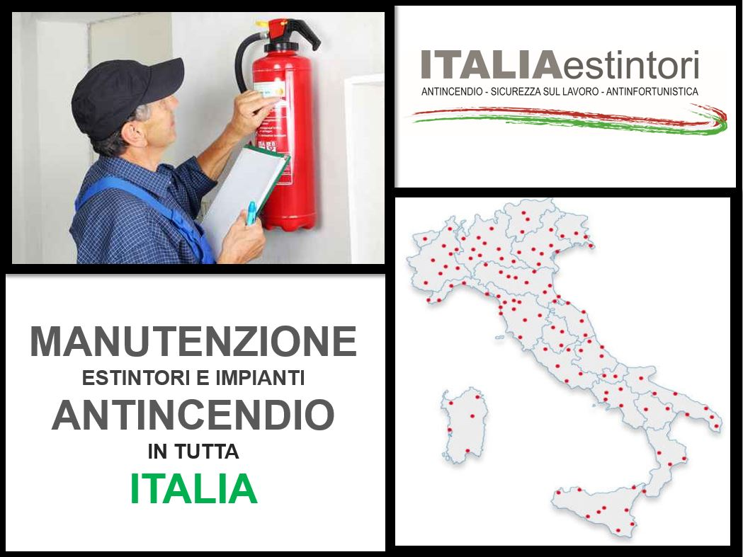 Manutenzione estintori e impianti antincendio in tutta Italia
