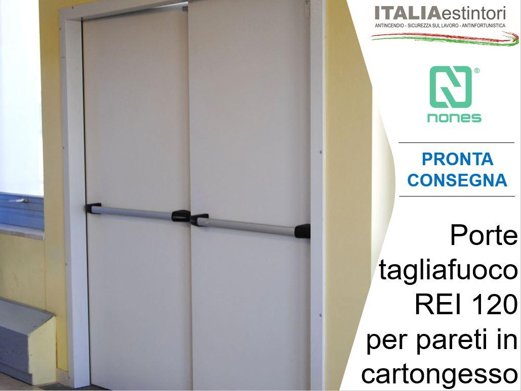 Porte REI 120 per pareti in cartongesso