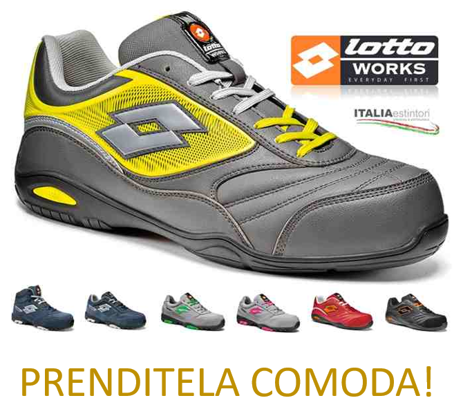 finest selection a2717 c8ac5 Scarpe antinfortunistiche Lotto