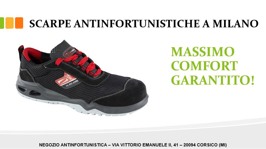 Scarpe antinfortunistiche a Milano