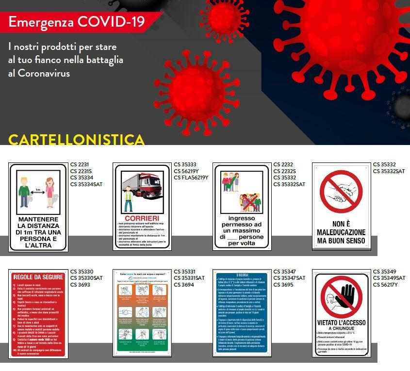 Cartellonistica Covid-19