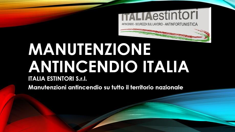 Manutenzione antincendio Italia
