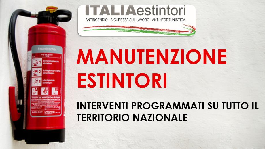 Manutenzione estintori in tutta Italia