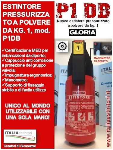 Estintore per auto P1DB Gloria