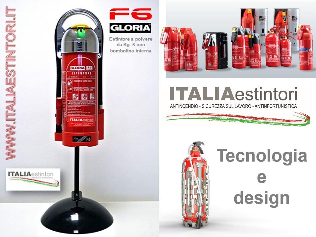 Estintori: tecnologia e design